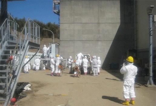 Benen arbeiders kerncentrale Fukushima zwaar verbrand