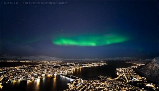 Het noorderlicht prachtig in beeld gebracht