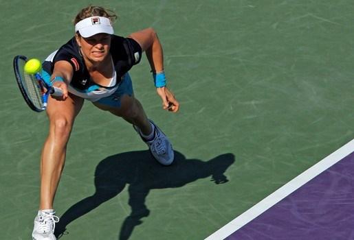 Kim Clijsters bereikt achtste finales in Miami
