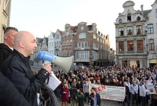 Betoging tegen verkeersplan Lier is maat voor niets