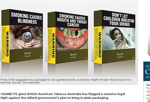 Australië schrikt rokers af met horrorpakjes sigaretten