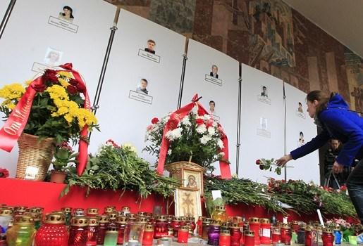 Wit-Russische president Loekasjenko wijst naar Europa in nasleep ramp metro Minsk