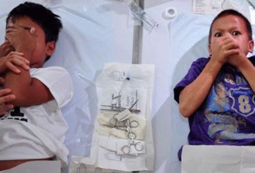Besnijdenisfeest in Filipijns voetbalstadion