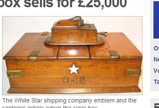 28.000 euro voor sigarenkistje Titanic-kapitein