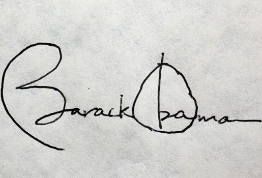 Alleenstaande moeder verkoopt handgeschreven briefje Obama