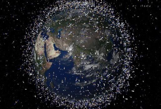 Oplossing bedacht voor tonnen ruimte-afval?