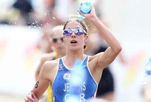 Helen Jenkins is wereldkampioene triatlon
