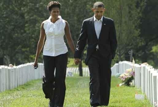 Bush en Obama voor het eerst samen in openbaar tijdens herdenking 9/11