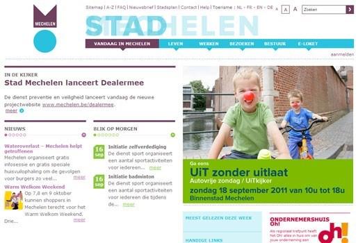 Mechelen.be klopt Gent, Antwerpen en Leuven