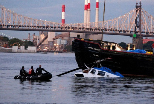 Motorstoring niet de oorzaak van crash in East River