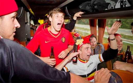 Belgische fans nemen Düsseldorf in