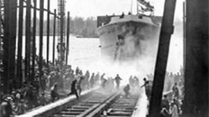 Hoboken anno 1929: Prinses Astrid te water