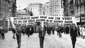 Antwerpen uit 1946: Hulde aan koning Leopold
