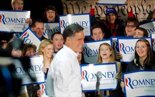 Weddenschap van 10.000 dollar komt Romney zuur te staan
