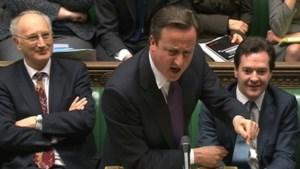 Cameron verdedigt veto tegen EU-verdrag in Brits parlement