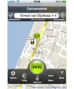 Taxi roepen met de smartphone
