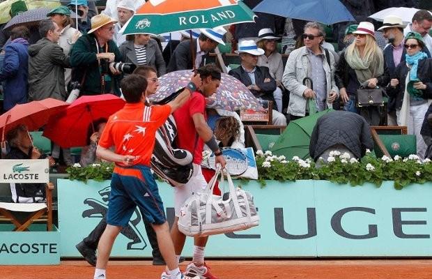 Vervolg mannenfinale Roland Garros uitgesteld tot maandag