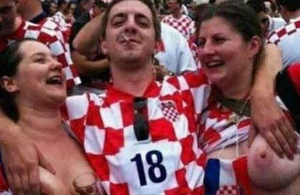 Kroatische fan die borsten liet zien dan toch ontslagen