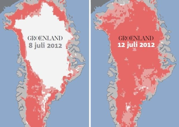 Groenland smelt weg