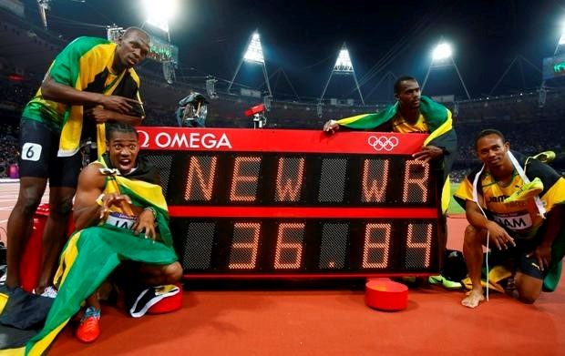 Jamaica verbreekt wereldrecord op 4x100m