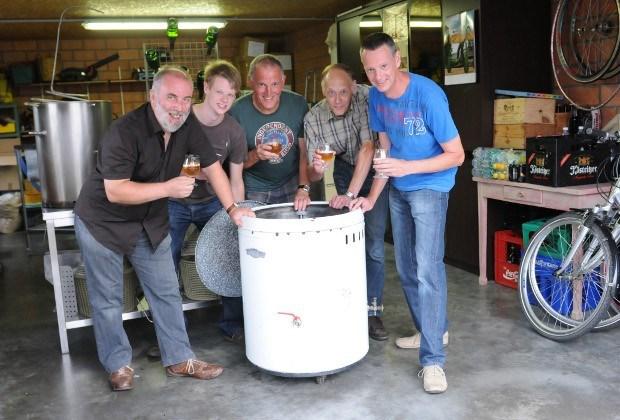 Kempenaars brouwen bier in wasmachine