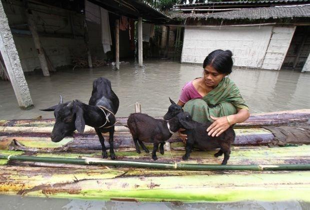 Meer dan 200.000 mensen op de vlucht voor overstromingen in India