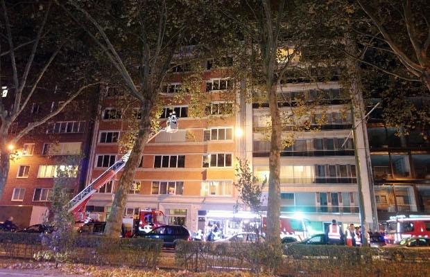 Brand in appartementsgebouw op Mechelsesteenweg