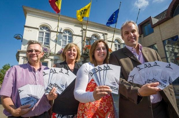 Dieven aan de haal met tien Belgische vlaggen
