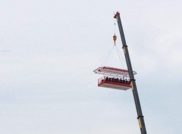 Stationsproject ontdekken op 40 meter hoogte