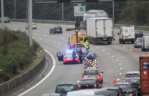 Aanschuiven op Ring door ongeval in Borgerhout