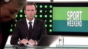 Martine Tanghe loopt door het beeld tijdens Sportweekend (video)