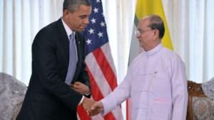 Obama ontmoet president Thein Sein in Myanmar