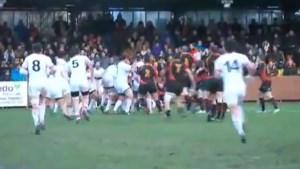 Rugbypelers massaal op de vuist tijdens België-Georgië (video)