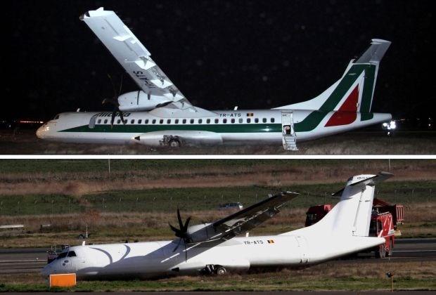 Alitalia laat vliegtuiglogo verdwijnen na crash in Rome