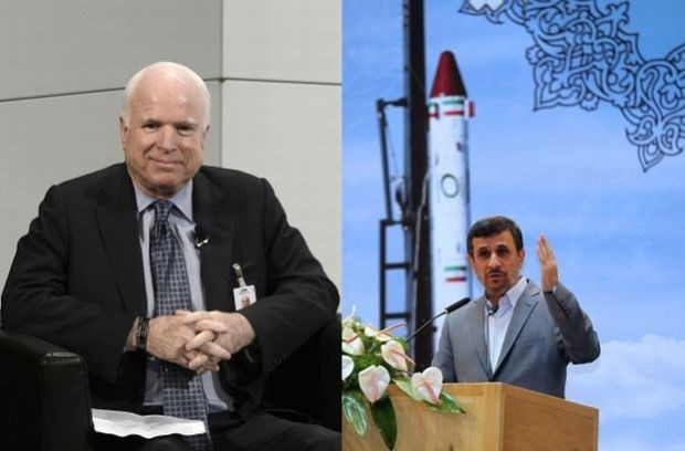 Amerikaans senator McCain vergelijkt Ahmadinejad met aap