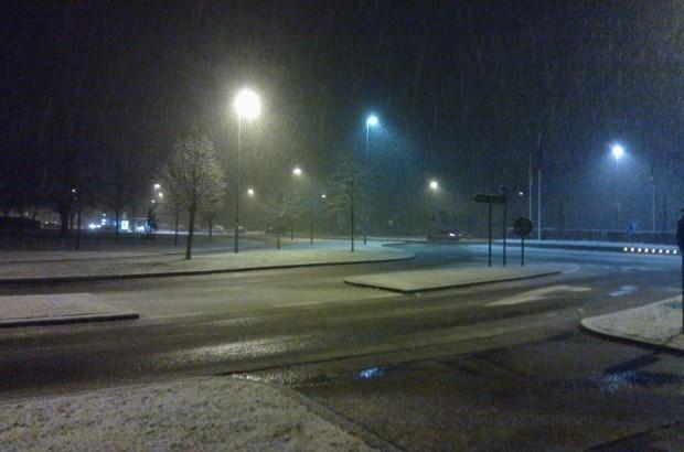 Kans op gladheid door sneeuwval