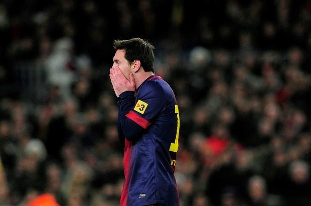 Messi mist training door koorts