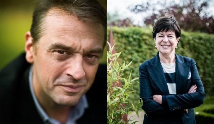 Tom Waes en Frieda Brepoels vechten 'Dress in blue'-duel uit