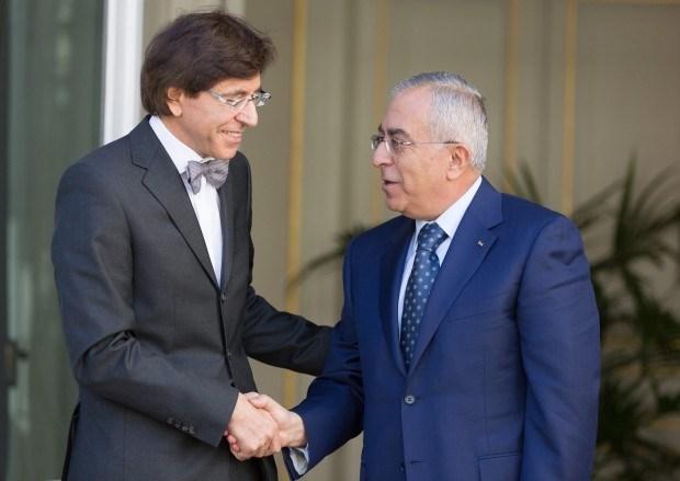 Di Rupo bepleit tweestatenoplossing bij Palestijnse eerste minister
