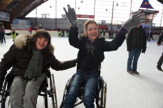 IJsstadion Antarctica laat kinderen met beperking gratis schaatsen