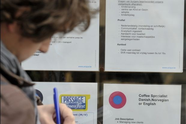 Werkloosheid hield stand in 2012