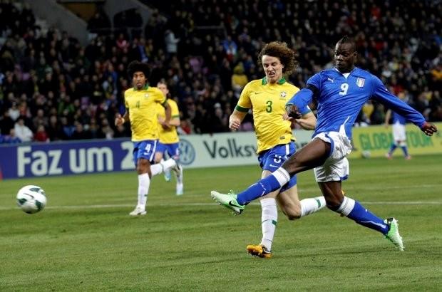 Italië en Brazilië spelen gelijk in oefeninterland