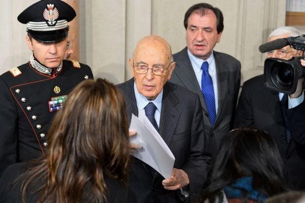 Napolitano wil dan toch president van Italië blijven
