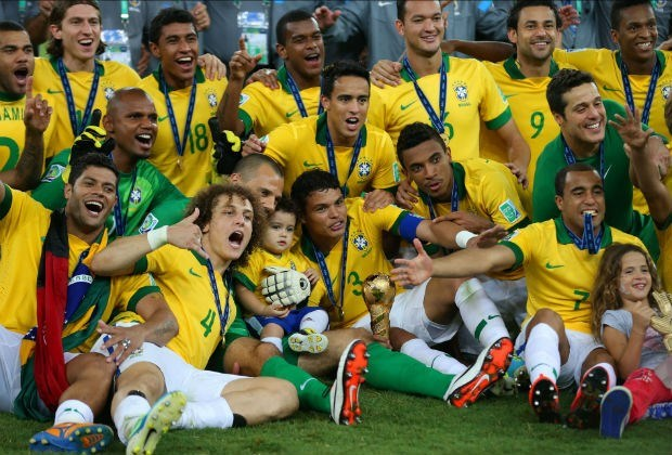 Brazilië wint derde Confederations Cup op rij