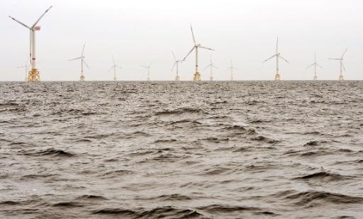 Windmolenparken voor Europese kust boomen