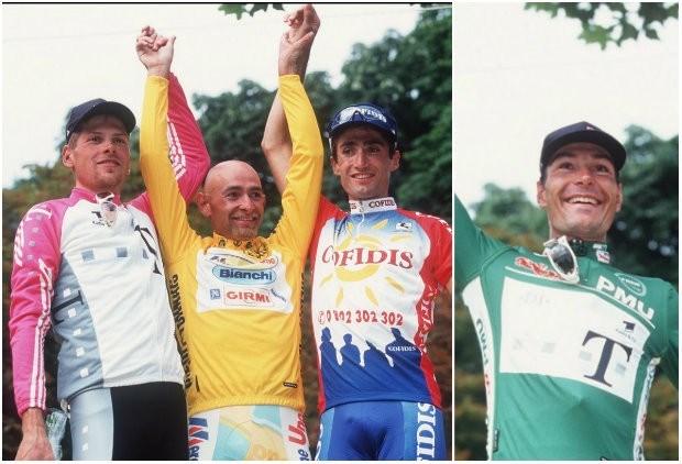Top drie en groene trui gebruikten epo in Tour 1998