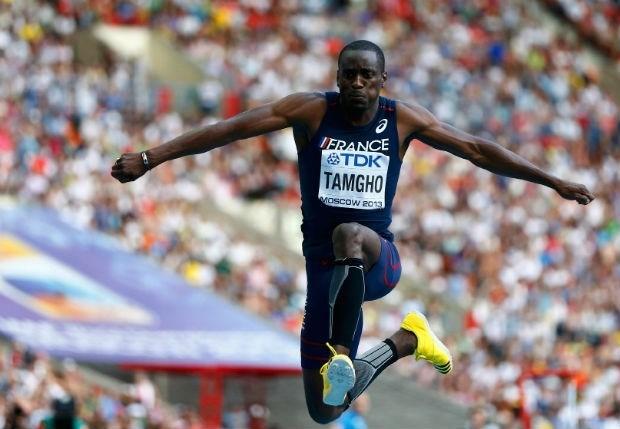 Teddy Tamgho pakt goud op hink-stap-sprong