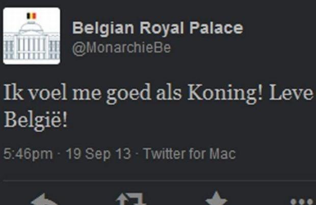 Twitter-account Koning Filip gehackt?