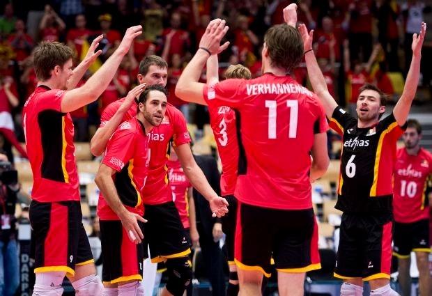 Red Dragons probleemloos voorbij Wit-Rusland op EK volleybal