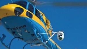 Geflitst door een helikopter